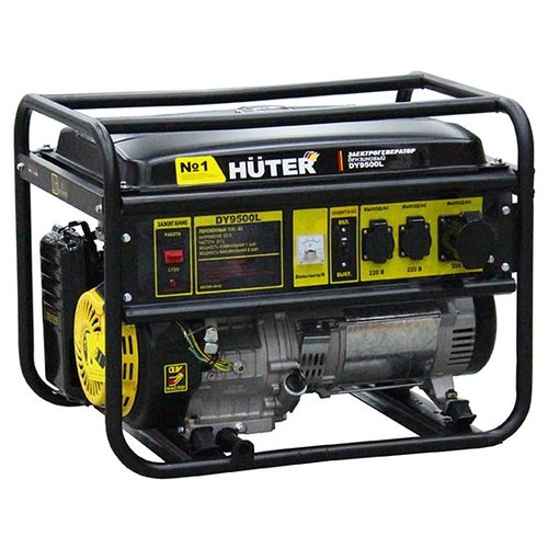 Бензиновый генератор Huter DY9500L (7500 Вт) бензиновый генератор huter dy3000l