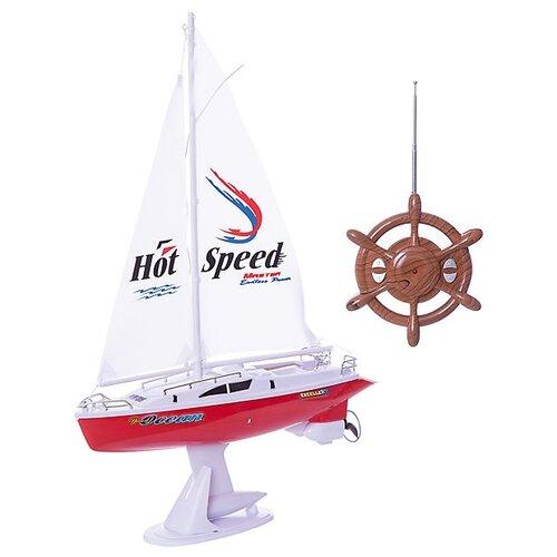 Яхта 1 TOY с парусом (Т58530) 1:16 38 см красный/белыйРадиоуправляемые игрушки<br>