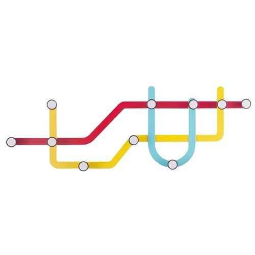 Вешалка Umbra Subway разноцветный