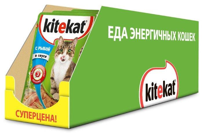 Корм для кошек Kitekat (кусочки в соусе)