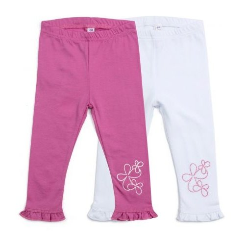 Легинсы playToday размер 62, белый/розовыйБрюки и шорты<br>