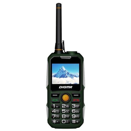 Телефон DIGMA LINX A230WT 2G, зеленый digma linx a230wt 2g черный