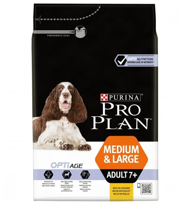 Корм для пожилых собак Pro Plan Optiage