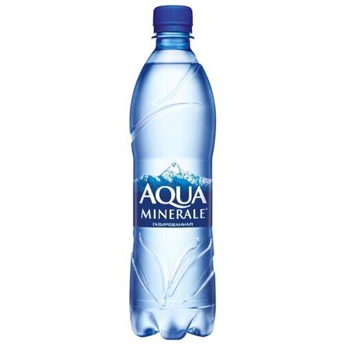 Вода питьевая Аква Минерале газированная, ПЭТ, 0.6 лВода<br>