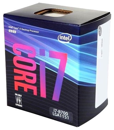 Процессор Intel Core i7-8700 Coffee Lake (3200MHz, LGA1151 v2, L3 12288Kb)