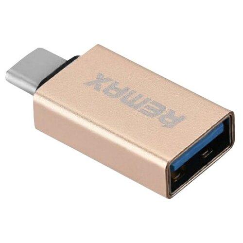 Переходник Remax USB - USB Type-C (RA-OTG1) золотистый