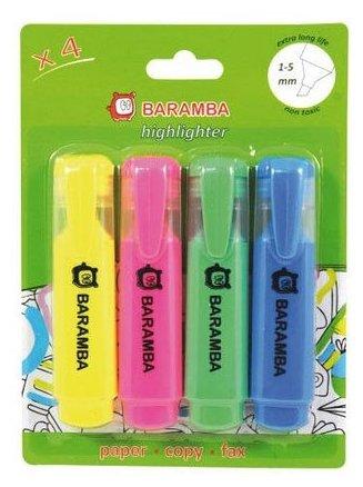BARAMBA Текстовыделители 4 цвета (B10004)