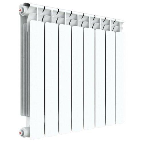 Радиатор секционный биметаллический Rifar Alp Ventil 500 x8 50/75 , теплоотдача 816 Вт 8 секций , подключение нижнее (справа)