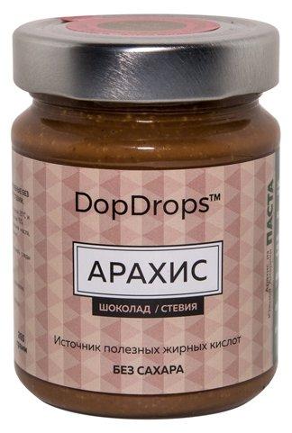 DopDrops Паста ореховая Арахис (шоколад, стевия) стекло
