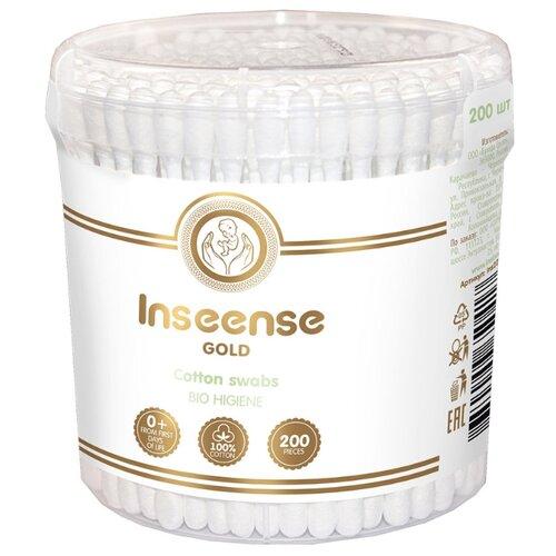 Ватные палочки Inseense Gold 200 шт. банка