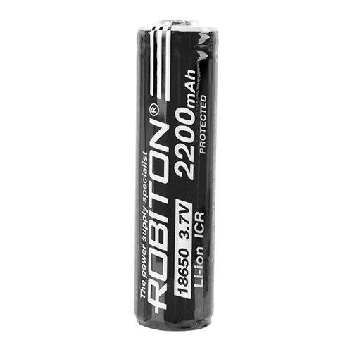 Фото - Аккумулятор Li-Ion 2200 мА·ч ROBITON 18650-2200 с защитой, 1 шт. аккумулятор li ion 2600 ма·ч robiton sam2600 high top незащищенный 18650 1 шт