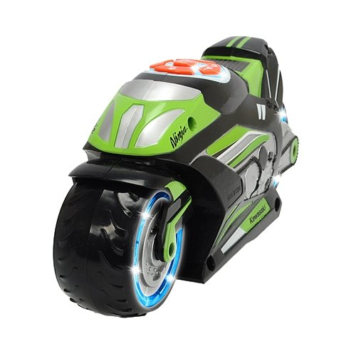 Купить Мотоцикл Dickie Toys музыкальный моторизированный (3764005) 23 см серебристый/черный/зеленый, Машинки и техника