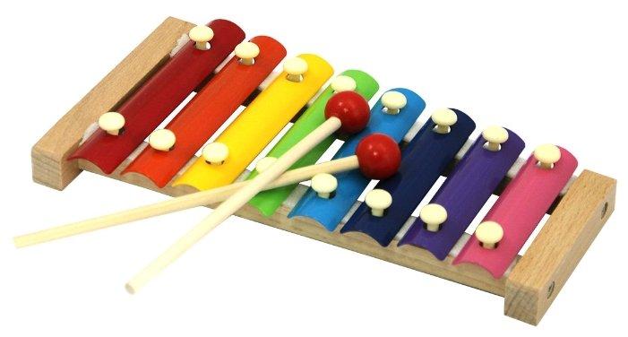 База игрушек ксилофон деревянный 7032