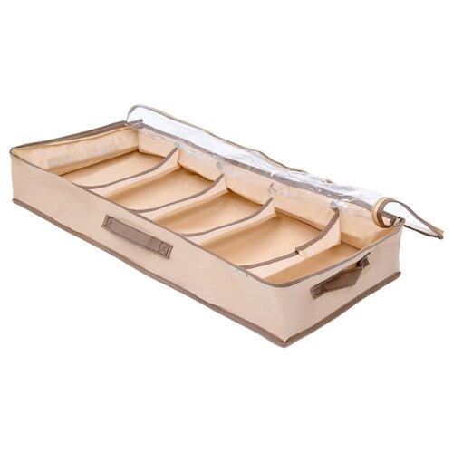 HOMSU Органайзер для обуви 5 отделений бежевый homsu органайзер homsu для обуви 5 отделений 100 32 11 см maestro