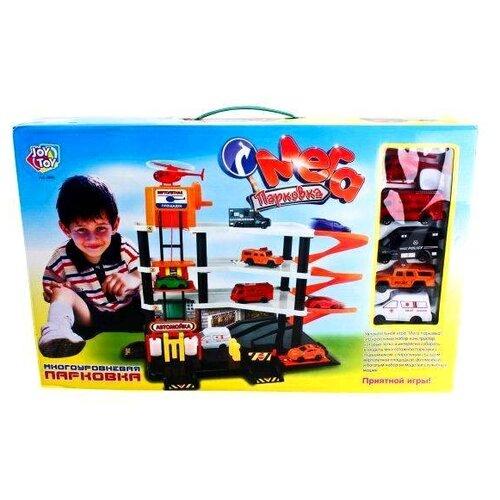 Joy Toy Мега парковка 0846 оранжевый/белый/черный