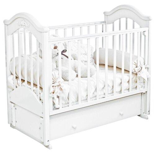 Купить Кроватка Красная Звезда Ефросинья С554 (классическая), продольный маятник белый, Кроватки