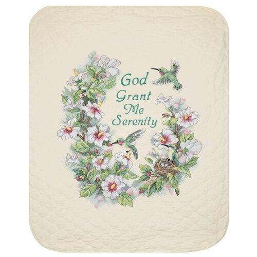 Dimensions Набор для вышивания крестиком Serenity Hummingbird Quilt 86 х 109 см (03232)Наборы для вышивания<br>