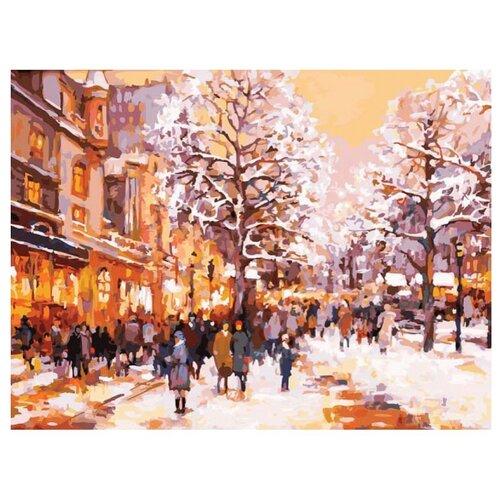 Белоснежка Картина по номерам Зимний вечер на бульваре 30х40 см (226-AS) белоснежка картина по номерам отражения солнца 30х40 см 264 as