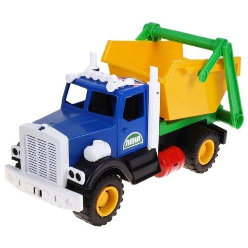 Мусоровоз ЛЕНА 08831 42 см синий/желтый/красный игрушка лена самосвал для мусора 08831