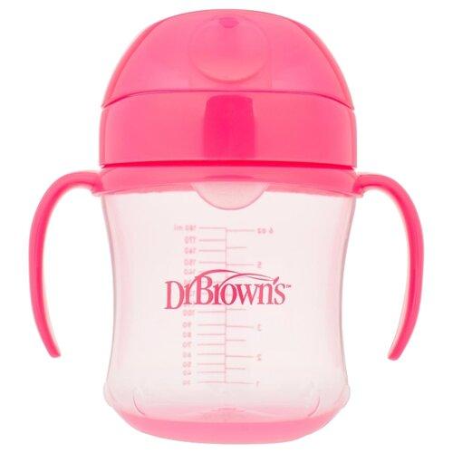 Купить Поильник-непроливайка Dr. Brown s Soft-Spout Transition Cup, 180 мл розовый, Dr. Brown's, Поильники