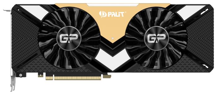 Palit Видеокарта Palit GeForce RTX 2080 Ti 1650MHz PCI-E 3.0 11264MB 14000MHz 352 bit HDMI HDCP GamingPro OC