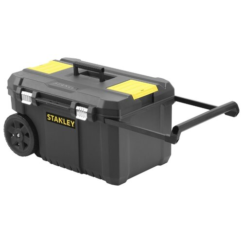 Ящик-тележка STANLEY STST1-80150 Essential Chest 64.5x34.5x40 см черный ящик с органайзером stanley stst1 75518 essential toolbox metal latch 41x20x20 см 16 черный