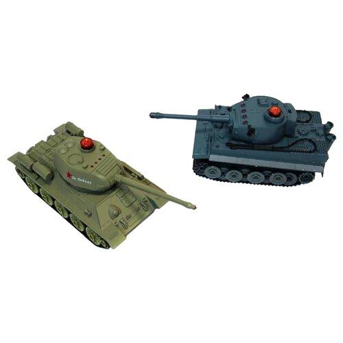 Танк ABtoys Танковый бой (508-T) 1:32 синий/зеленыйРадиоуправляемые игрушки<br>