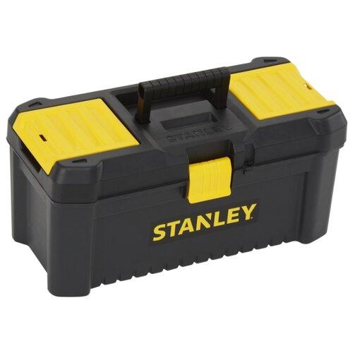Ящик с органайзером STANLEY STST1-75517 Essential 40.6x20.5x19.5 см 16'' черный ящик с органайзером stanley stst1 75518 essential toolbox metal latch 41x20x20 см 16 черный