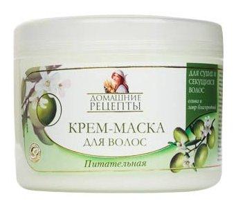 """Домашние рецепты Крем-маска для волос """"Питательная"""""""