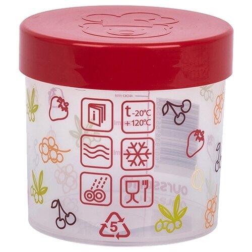 Oursson Банка для жидких и сыпучих продуктов JA55153/RD 500 мл хранение продуктов best home porcelain банка для сыпучих продуктов naturel 500 мл