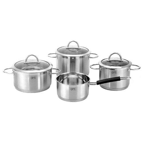 Набор посуды GIPFEL SIGNO 1503 7 пр. набор посуды signo с капсульным дном 7 пр 1503 gipfel