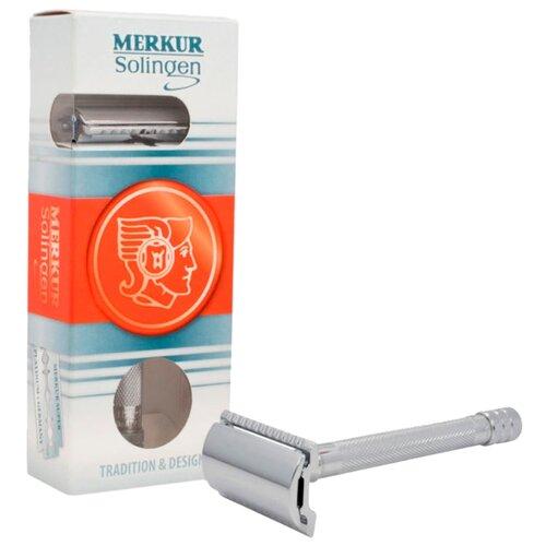 Фото - Т-образная бритва Merkur Solingen 9033001, сменные лезвия 1 шт. т образная бритва merkur solingen 90702003 золотой