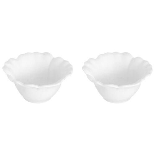 Elan gallery Блюдо сервировочное Цветок 140 мл, 2 шт. белое