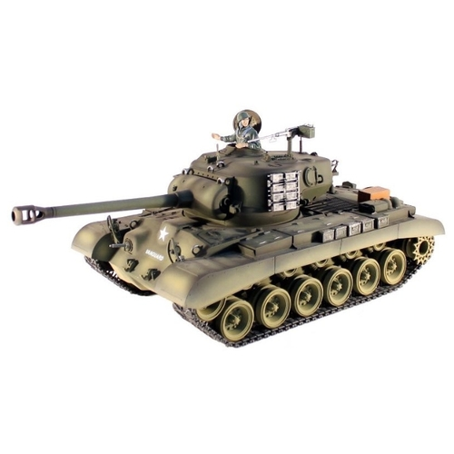 Танк Heng Long M26 Pershing Snow Leopard (3838-1PRO) 1:16