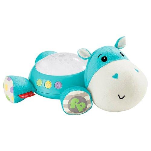 Купить Мягкая игрушка-ночник Fisher-Price Бегемотик 28 см, Мягкие игрушки