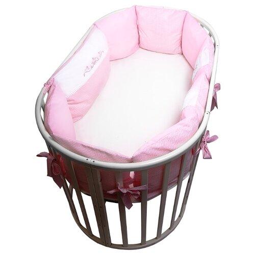 Сонный Гномик бортики-подушки Прованс розовыйПостельное белье и комплекты<br>