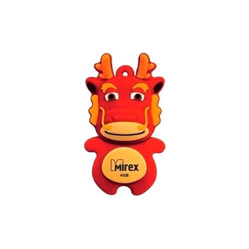 Фото - Флешка Mirex DRAGON 4GB красный флешка mirex dragon 8gb красный