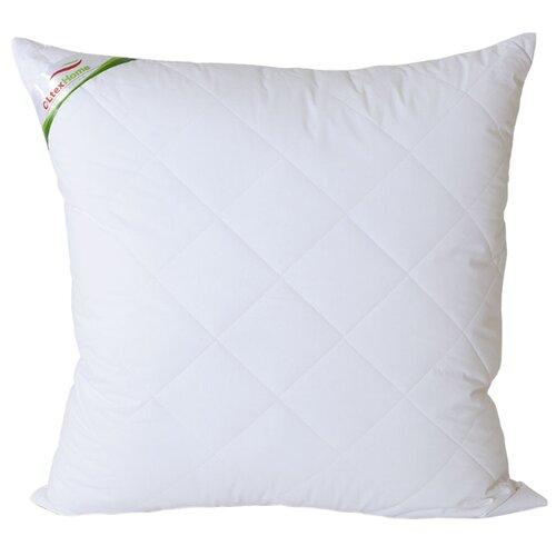 Подушка OLTEX бамбук, стеганый чехол (ОБТ-77-3) 68 х 68 см белыйПодушки<br>