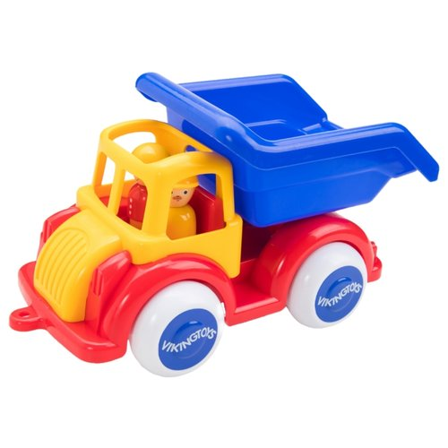 Купить Грузовик Viking Toys Jumbo (1250/701250) 25 см красный/желтый/синий, Машинки и техника