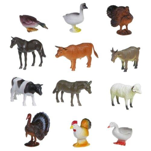 Купить Игровой набор BONDIBON Ребятам о зверятах - Домашние животные и птицы ВВ1635, Игровые наборы и фигурки
