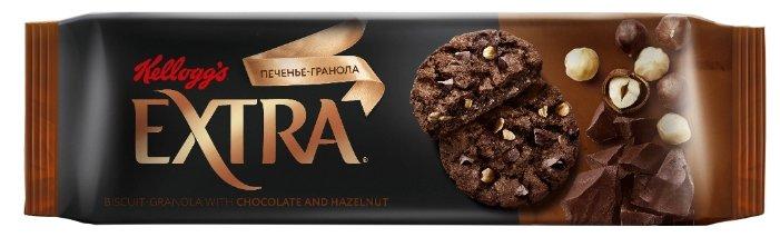 Печенье Kellogg's Extra гранола с шоколадом и фундуком, 150 г