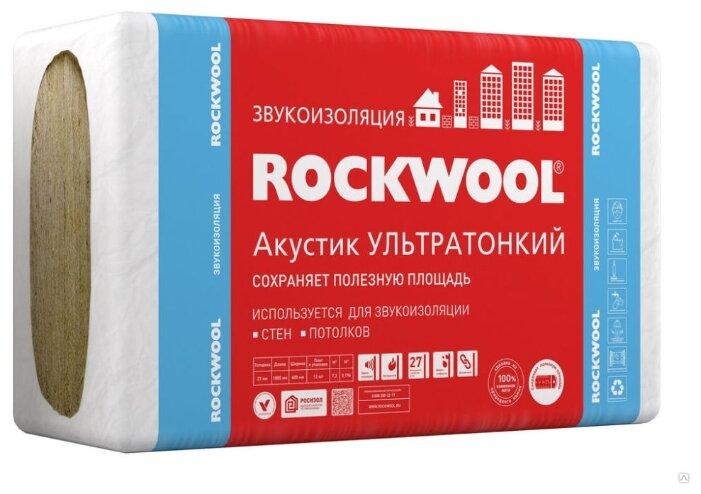 Каменная вата Rockwool Акустик Ультратонкий 1000x600х27мм 12 шт