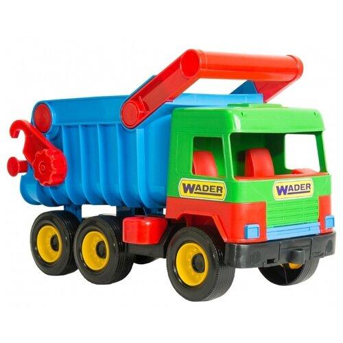 Грузовик Wader Middle truck (39222) 38 см синий/зеленый/красныйМашинки и техника<br>