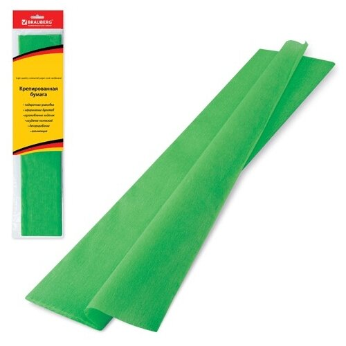 Купить Цветная бумага крепированная в рулоне стандарт BRAUBERG, 50х200 см, 1 л., Цветная бумага и картон