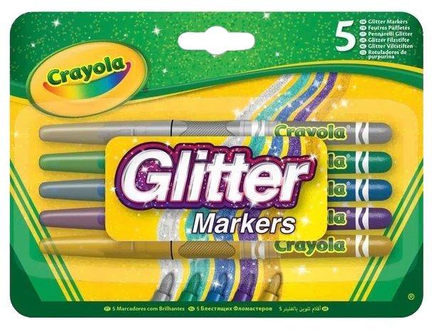 Crayola Фломастеры блестящие 5 шт. (58-8645)