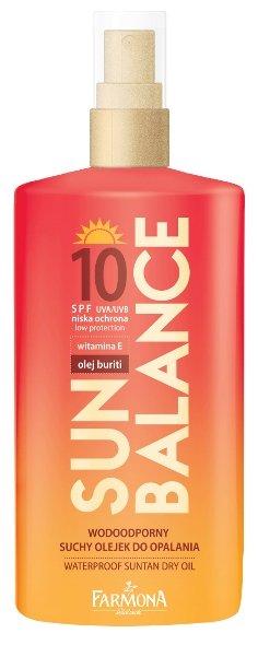 Farmona Sun Balance водостойкое сухое масло для загара SPF 10