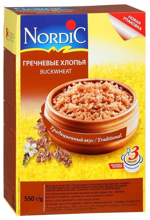 Хлопья Nordic гречневые, 550 г, 1 шт