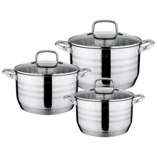 Набор кастрюль Rainstahl 1335-06RS\CW 6 пр. стальной набор посуды rainstahl 6 предметов 1616 06rs cw