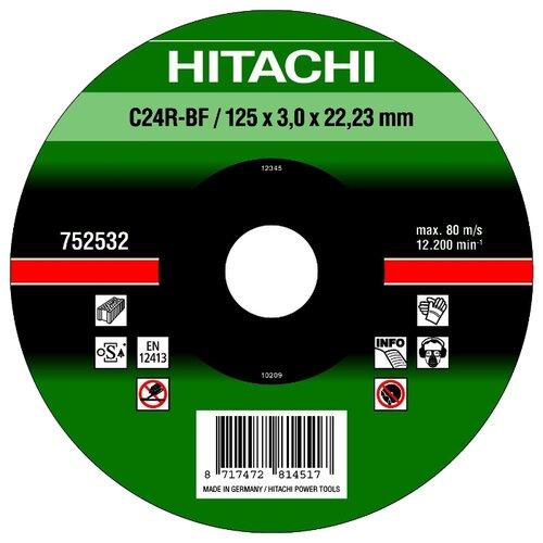 Диск отрезной 125x3x22.23 Hitachi 752532 1 шт.
