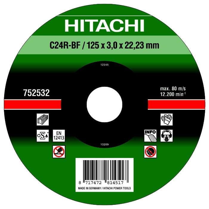 Диск отрезной 125x3x22.23 Hitachi 752532